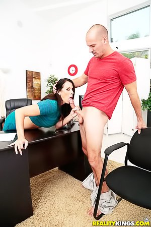 MILF with black stockings and a big ass gets drilled from behind