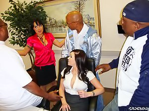 Dark-haired Latina MILF gets brutally pounded in her own office