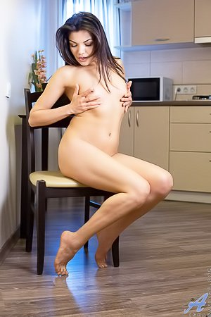 White panties dark-haired Latina shows that mature-ish body of hers